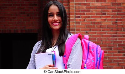 Pretty Female High School Student