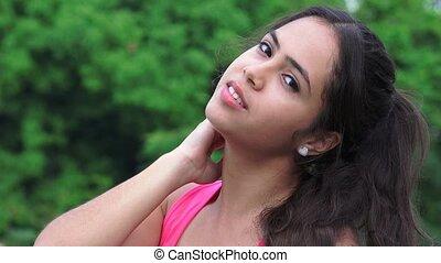 Pretty Female Hispanic Teen