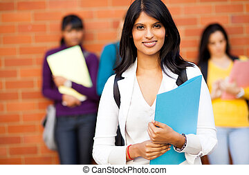 pretty female indian university student