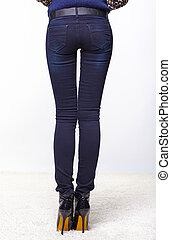 female legs in jeans