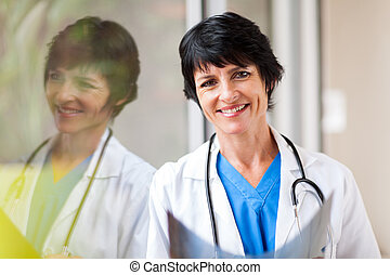 female middle aged medical worker
