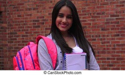 Pretty Female Teenage High School Student