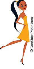 Pretty girl cartoon - african girl cartoon
