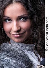 Pretty girl close-up portrait