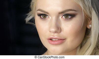 Pretty girl face blonde