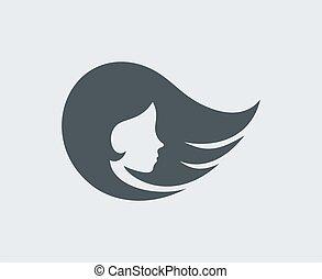 pretty girl face icon