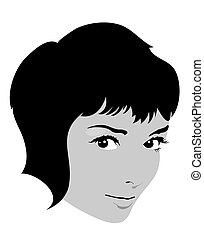 Pretty girl face vector