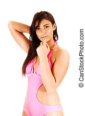 Pretty girl in bikini.