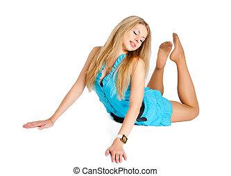 Pretty girl in grace position