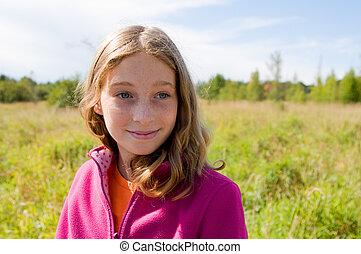pretty girl in nature
