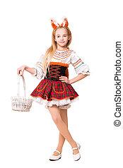 Pretty girl in squirrel dress