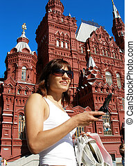 Pretty girl on Red Square