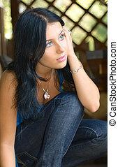 Pretty girl outdoor