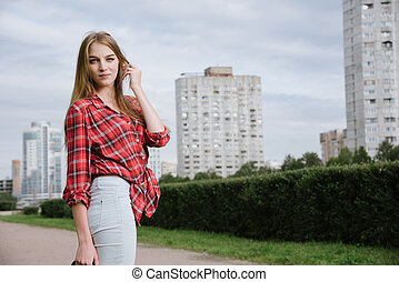 pretty girl portrait outdoor