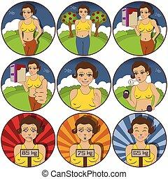 pretty girl stickers