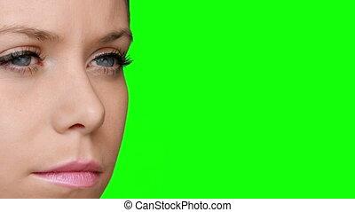 Pretty girl wearing eyeliner