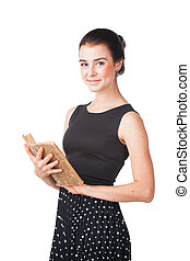Pretty girl with book