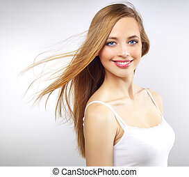 Pretty girl with long hair