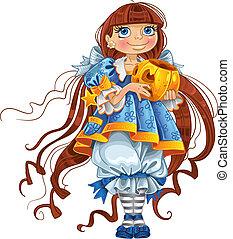 Pretty girl with pumpkin