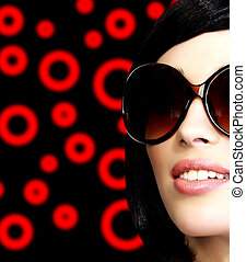 Pretty girl with sunglasses