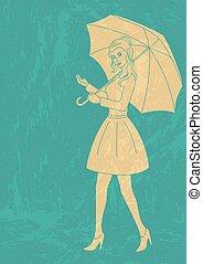 Pretty girl with umbrella