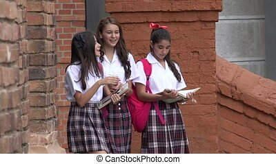 Pretty Girls Walking To School