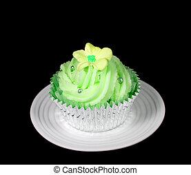Pretty Green Cupcake