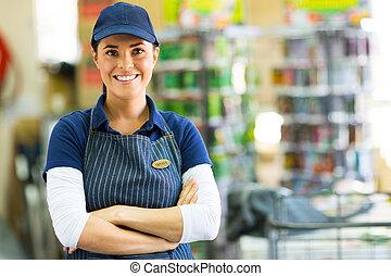 hardware store employee - pretty hardware store employee...