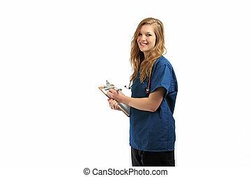 Pretty healthcare professional