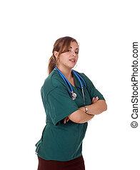 Pretty hispanic doctor