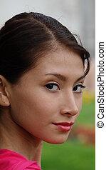 Pretty Hispanic Teen Girl