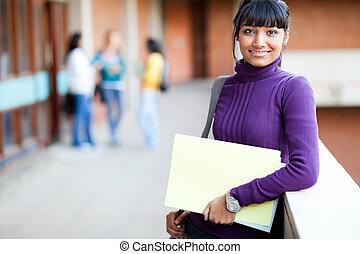 pretty indian college girl portrait