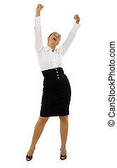 joyous business woman