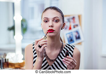 Portrait of a nice beautiful young woman - Pretty lady. ...