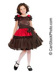 Pretty little girl in a dress