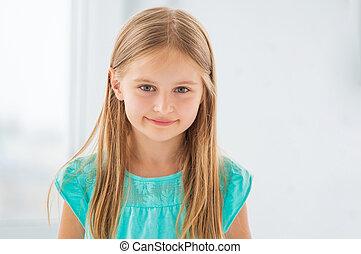 Pretty little girl smiling