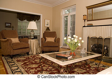 Pretty Living Room - pretty formal living room in upscale ...