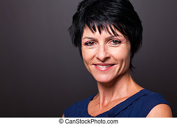middle aged woman closeup - pretty middle aged woman closeup...