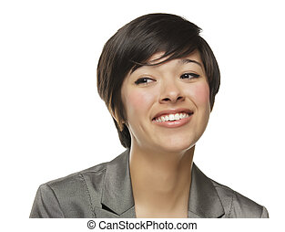 Pretty Mixed Race Young Adult Woman