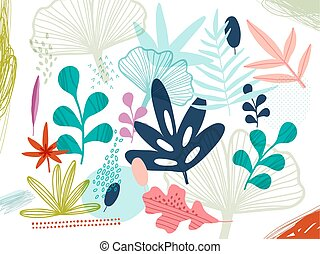 Pretty painted flowers Background