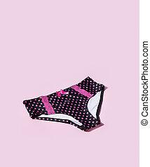 Pretty panties - Women's black panties with pink polka dots ...