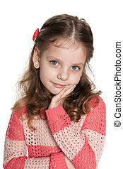 Pretty pensive little girl