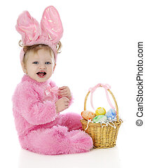 Pretty Pink Easter Bunny