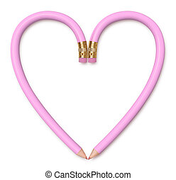 Pretty Pink Pencil Heart