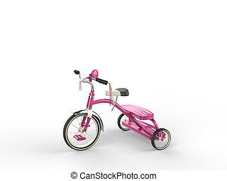 Pretty pink tricycle - studio shot