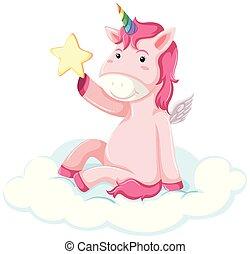 Pretty pink unicorn concept