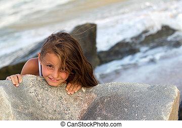 Pretty playful little girl