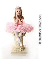 Pretty preschool ballerina