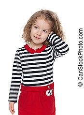 Pretty preschool girl