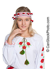 Pretty preteen Ukrainian girl